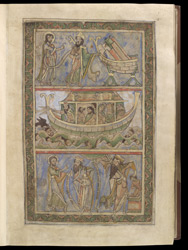 Noah and the Ark, and Sacrifice of Isaac, in The Winchester Psalter